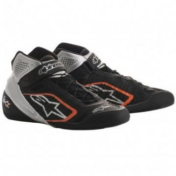 ALPINE STARS TECH 1KZ BOOTS ORANGE/SILVER